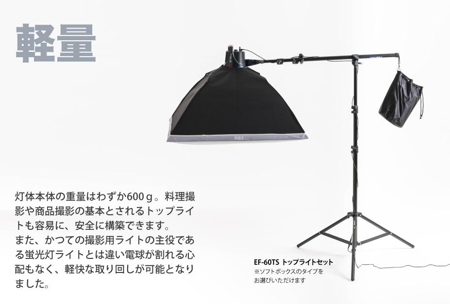 撮影用LEDライト EF-60